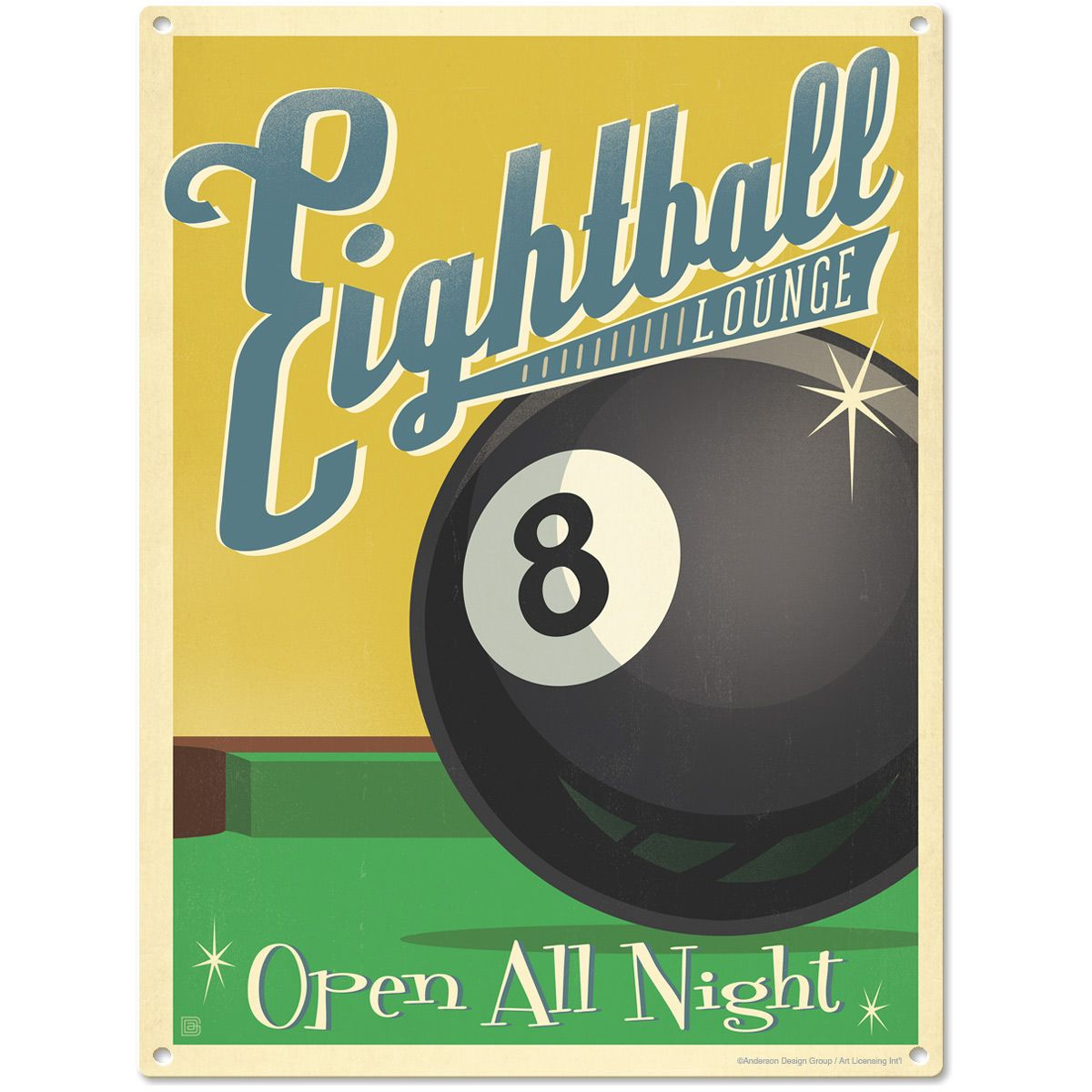 Eightball Lounge Metal Sign http://www.retroplanet.com/PROD/47024 ...