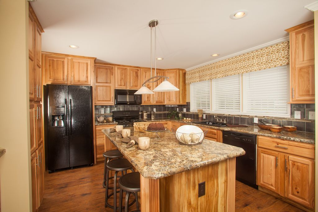 Natural Walnut Kitchen Island In Summit New Jersey: Colony Homes' Featured Home For November!