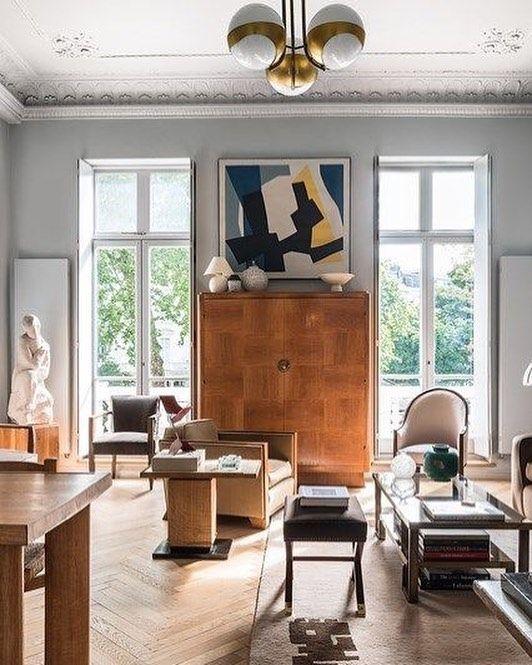 Streamline moderne deco furniture space place living room inspiration modern design the doors tapestry monochrome art nouveau