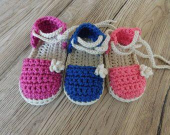 Ganchillo patrón bebé sandalias, sandalias de bebé, botitas de bebé,  ganchillo patrón alpargata