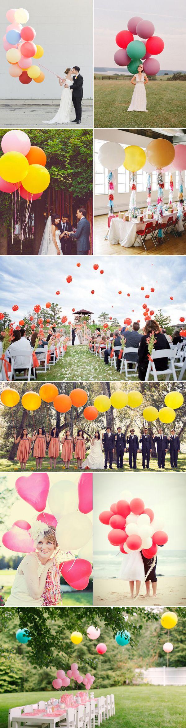 Vrolijke gekleurde ballonnen. Goedkope versiering: ballonnen - Girls of honour