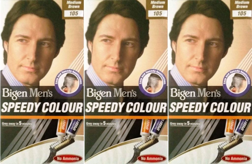 Bigen Men's Speedy Hair Colour 105 Medium Brown X 3 Packs * Click image for more details.