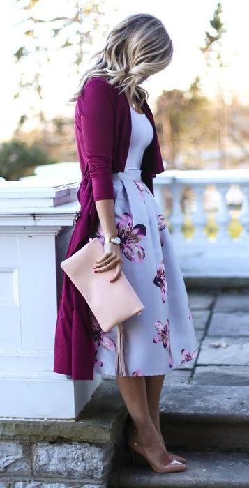 Love the color combo! #fullskirtoutfit