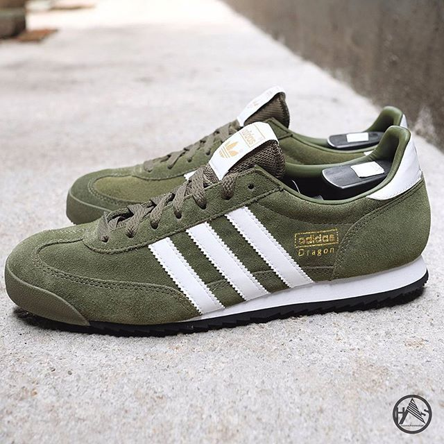 green adidas dragon
