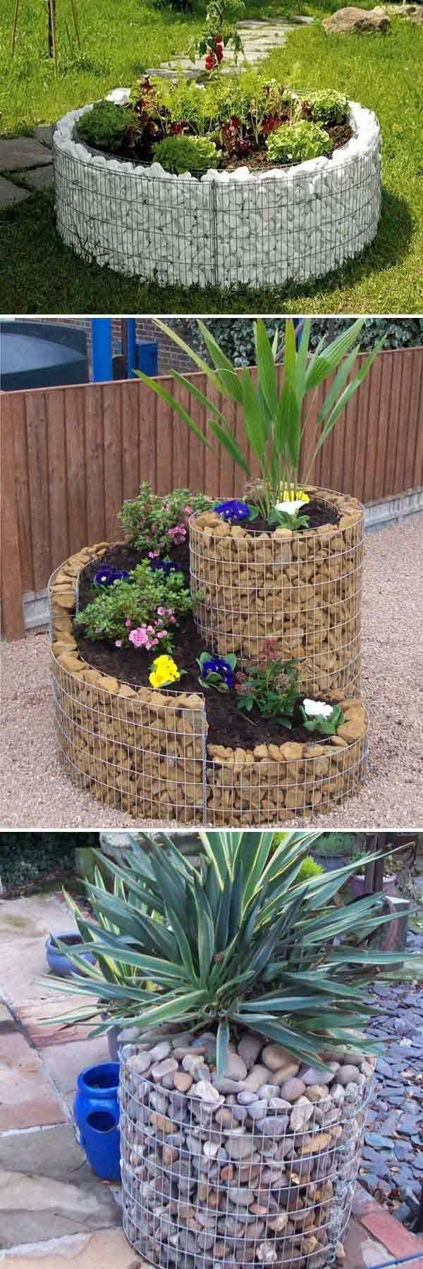 gaviones usados para formar hermosas jardineras hogartecnocasa decoratecnocasa patios. Black Bedroom Furniture Sets. Home Design Ideas