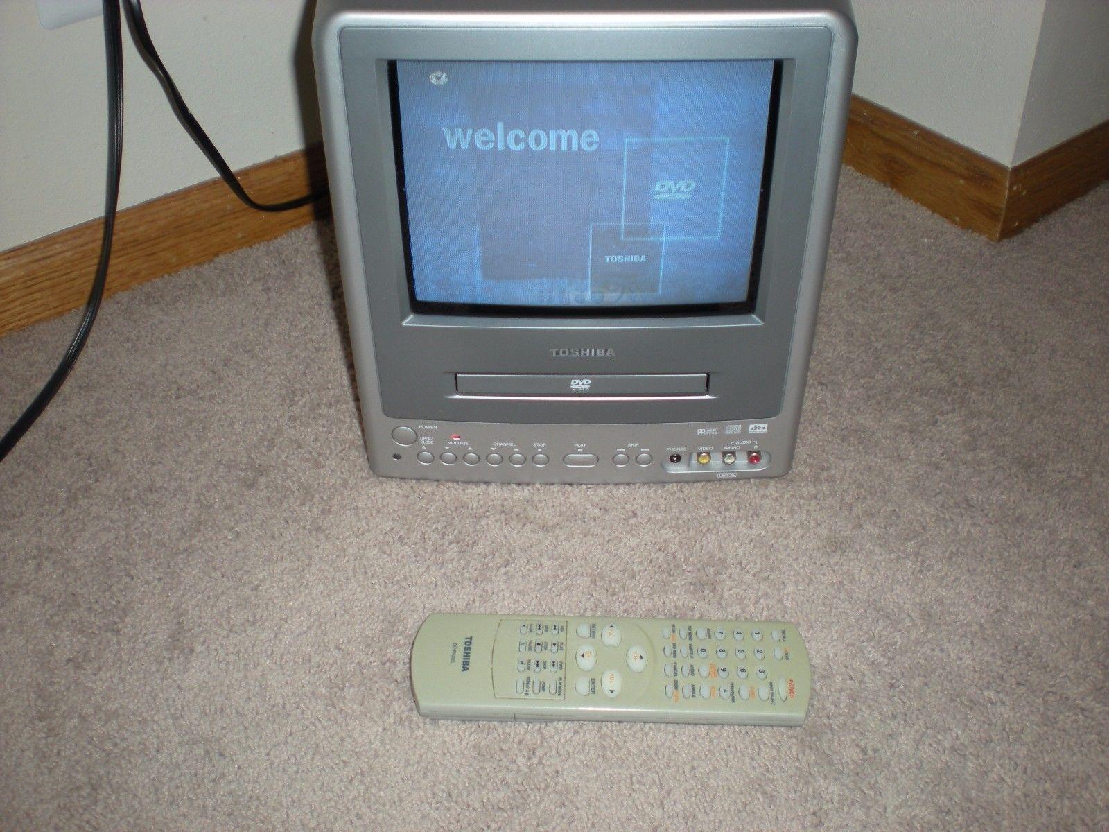 Toshiba Md9dm1 9 Crt Television Portable Camper Rv Ac Dc