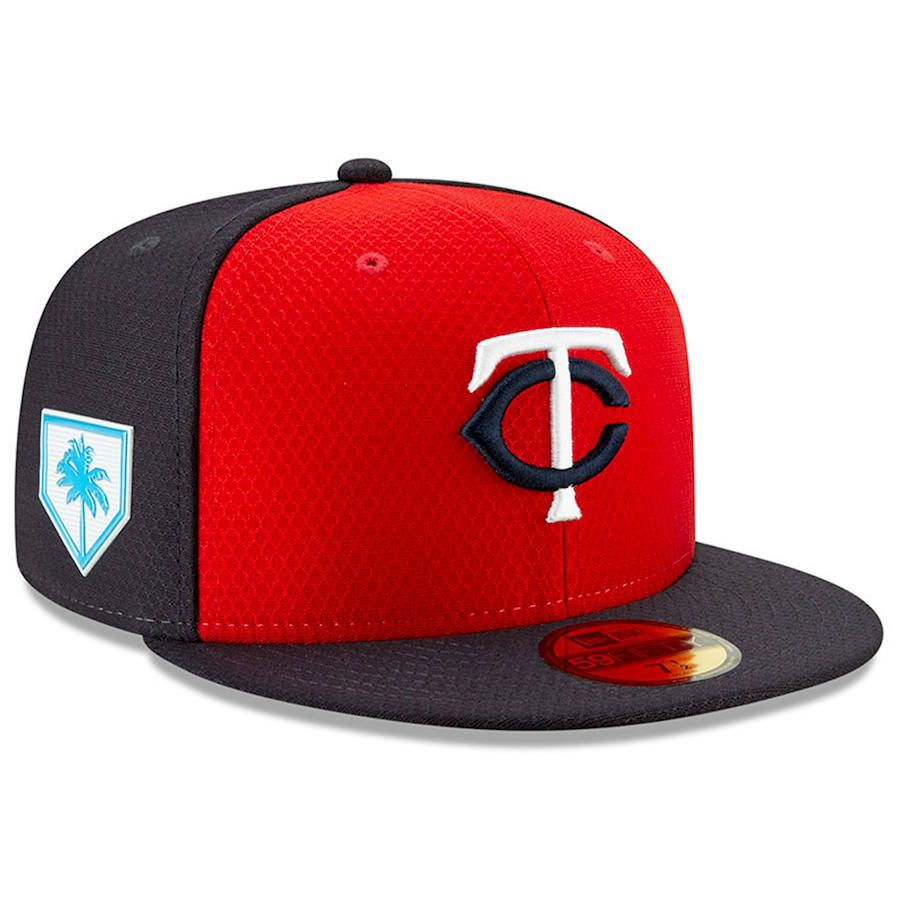 6ac2cf3e593 Men s Minnesota Twins New Era Red Navy 2019 Spring Training 59FIFTY Fitted  Hat