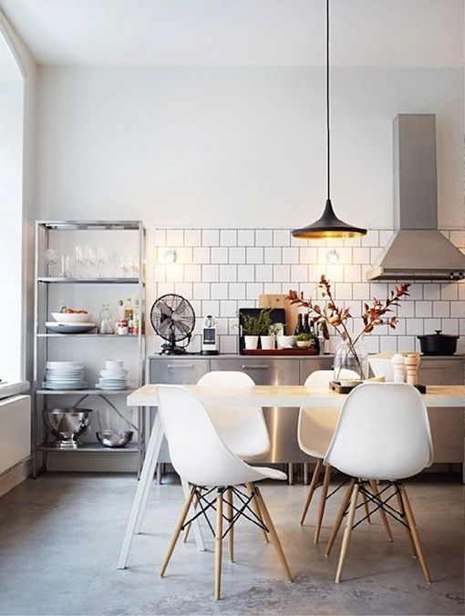 #metrotiles #industriallighting #eames all the elements of the perfect industrial kitchen
