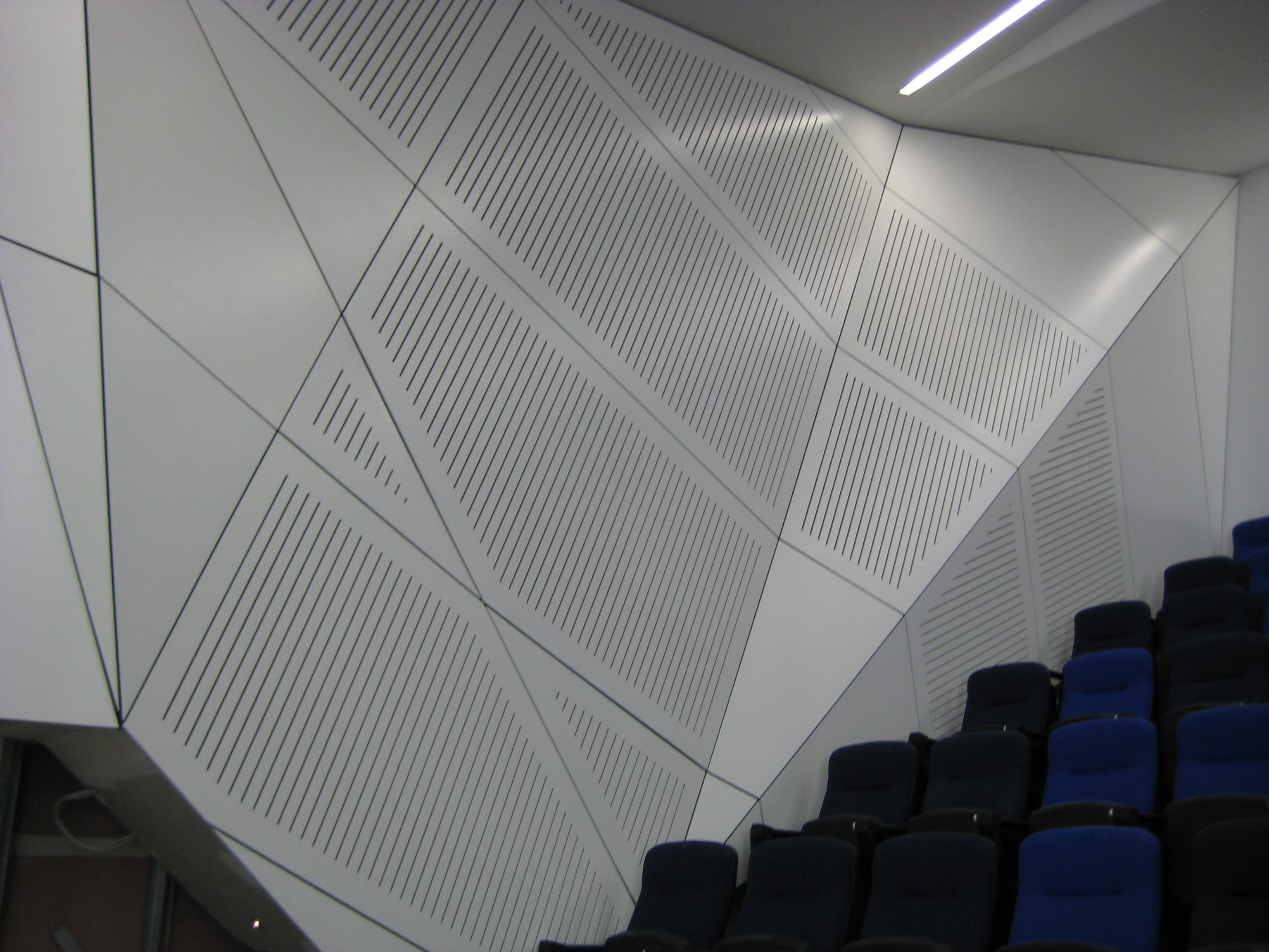 3 Dimensional perforated wall panels not only absorb but ...