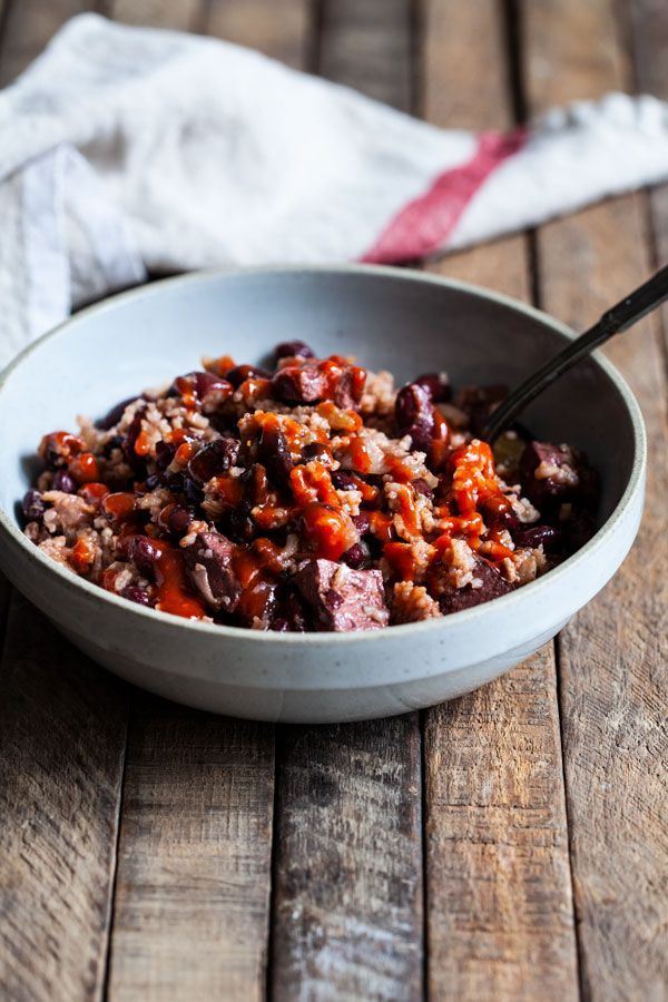 Slow Cooker Red Beans Rice Tofu