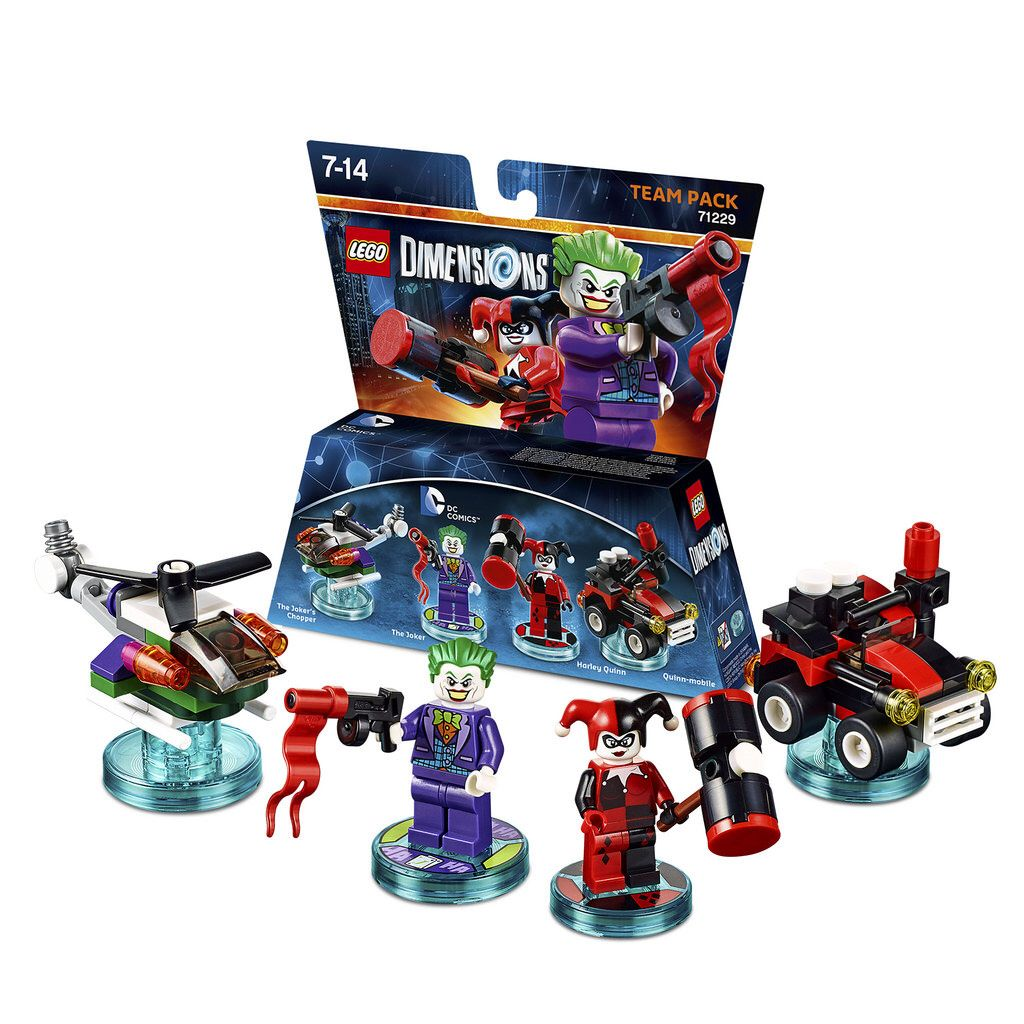 Lego Dimensions Dc Comics Level Pack 71229 Figurine Lego Lego Joker Et Harley