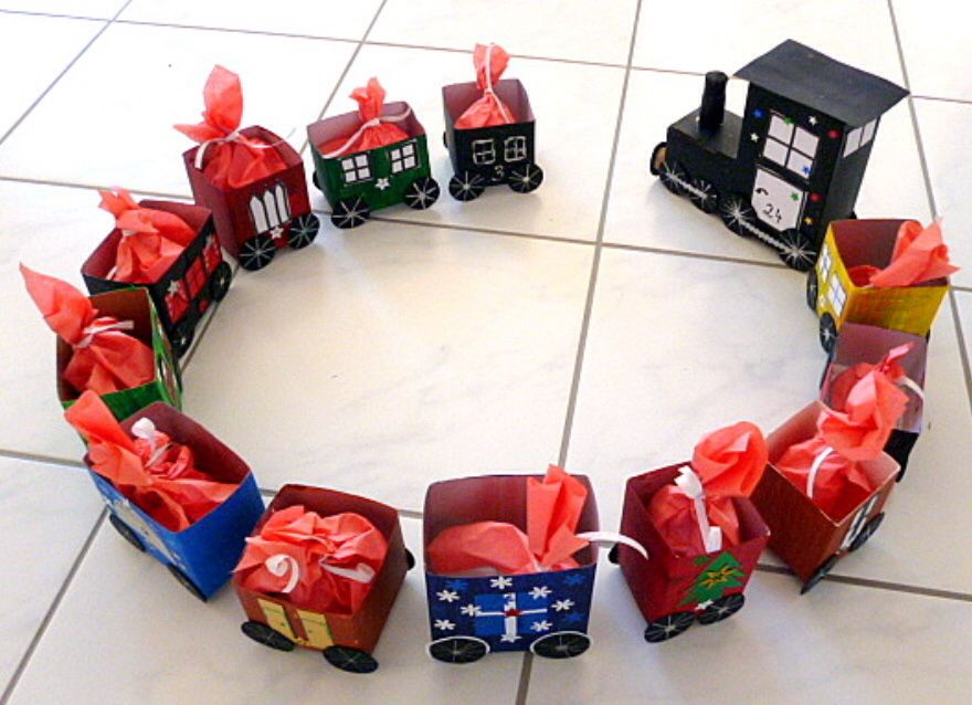 adentskalender aus tetrapackungen christmas pinterest. Black Bedroom Furniture Sets. Home Design Ideas