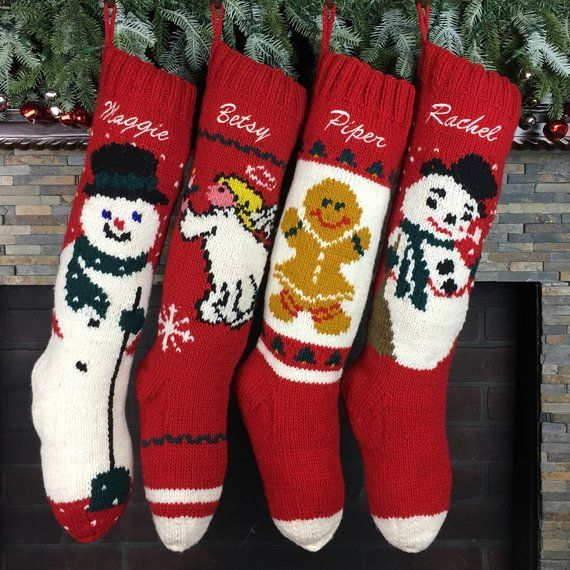 Personalized Christmas Stockings, Monogrammed Christmas stockings