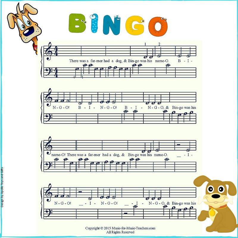 Bingo easy piano songs for toddlers piano songs easy