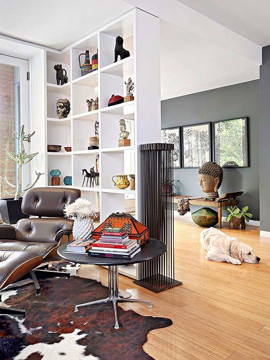 Small Space Solutions For Every Room Open Living Room Living Room Divider Bookshelf Room Divider