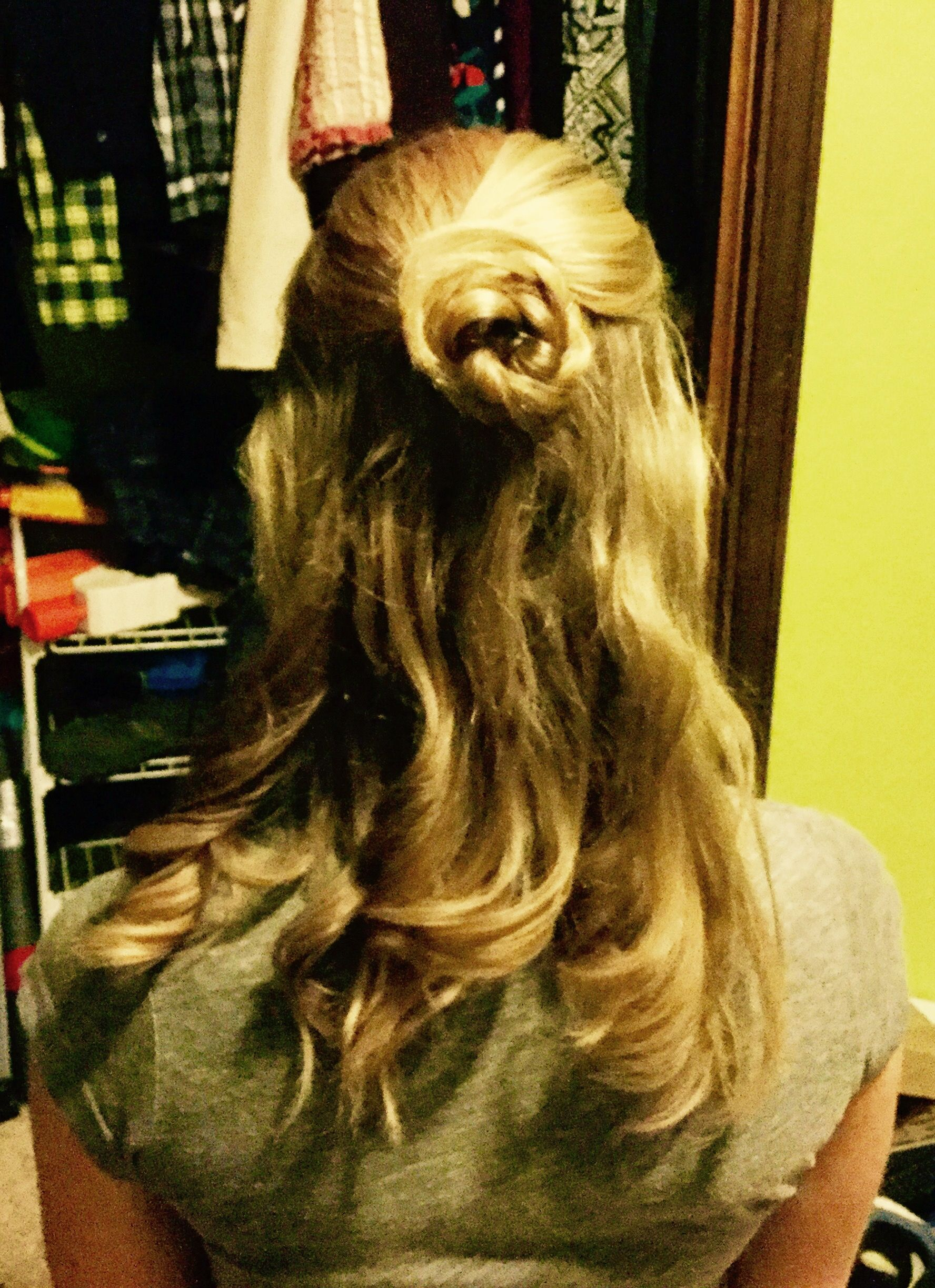Really easy elegant hairstyle sorry for the bad pic formal