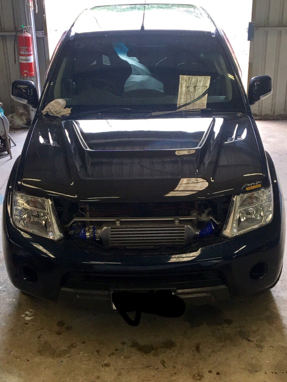 Nissan Navara D40 Carbon Fibre Bonnet Compound Turbo Garret Recaro Bucket Seats