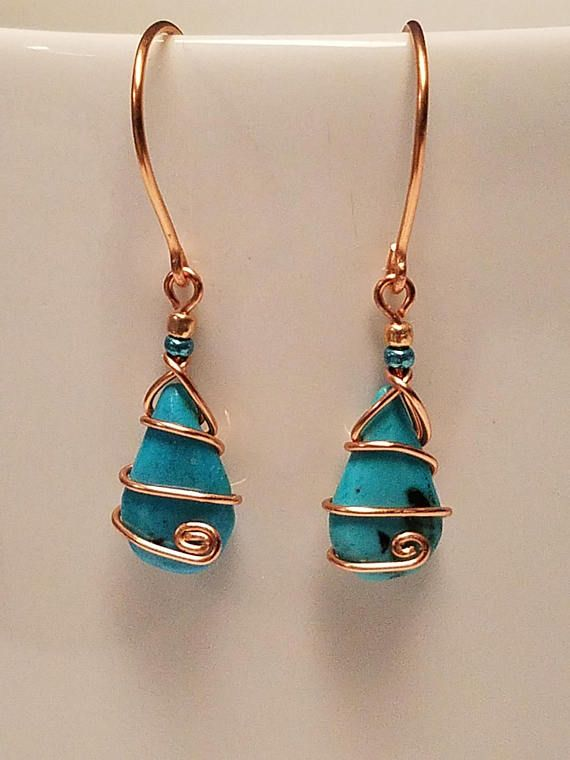Hey, I found this really awesome Etsy listing at https://www.etsy.com/listing/522847817/genuine-turquoise-copper-spiral-earrings