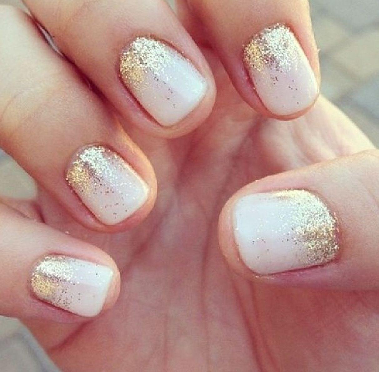 Falling Glitter Nails