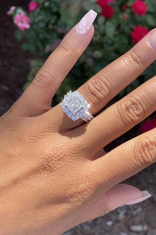 30 Unforgettable Princess Cut Engagement Rings To Get Her Heart ❤ princess cut engagement rings