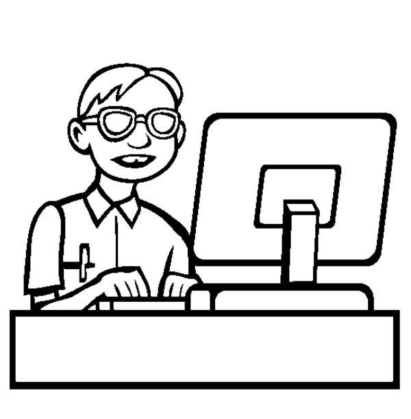 Computer Programmer Coloring Page Coloring Sun Coloring Pages Computer Programmer Color
