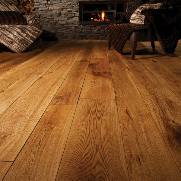 190mm Distressed Antique Light Brown Engineered Oak Wood