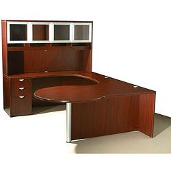 @Overstock - Add a great looking workstation to your office with this Boss rich mahogany finish desk. This workstation features several useful furniture pieces.http://www.overstock.com/Office-Supplies/Boss-Curved-Series-Left-Return-Workstation/4859308/product.html?CID=214117 $1,084.79