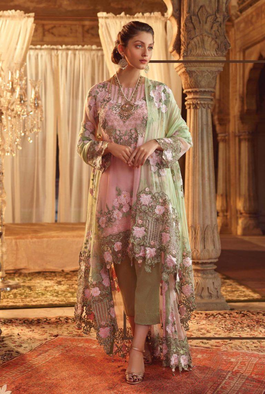 5b3a798dbb Akbar Aslam Luxury Embroidered Chiffon Pakistani Collection Suits 01 ...