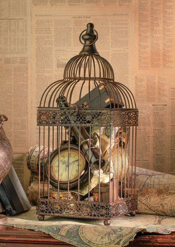 Bird Cages For Decor Fill With Precious Treasures Styled For The
