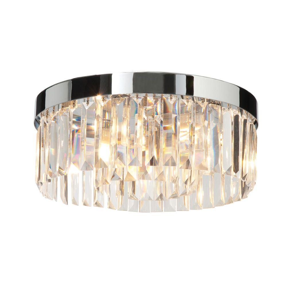 Photo Gallery In Website Saxby Crystal light Bathroom Flush Fitting in Chrome suitable for bathrooms