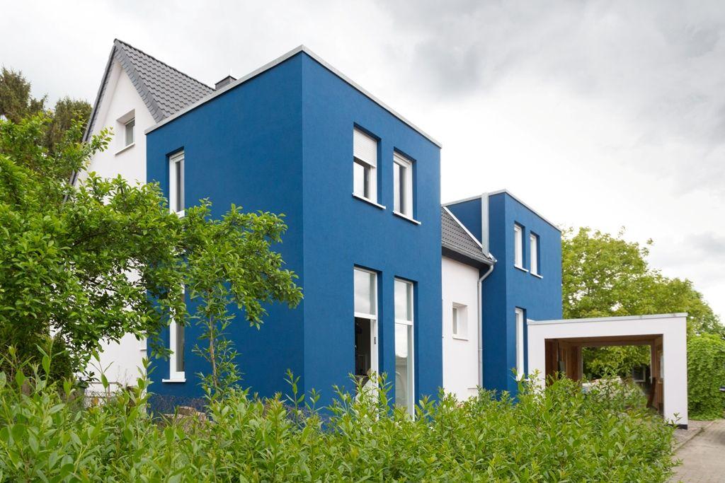 Wärmedämmung Umbau Wohnhaus Blaues Haus Altbau Fassaden - haus renovierung altgebaude