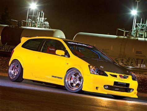 2002 Honda Civic #yellow #Honda #HondaCivic #HondaCars