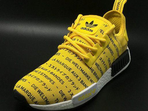 timeless design cea9e 286fd 2018 Shop Adidas NMD Runner PK Japan Print Yellow Black White Shoe