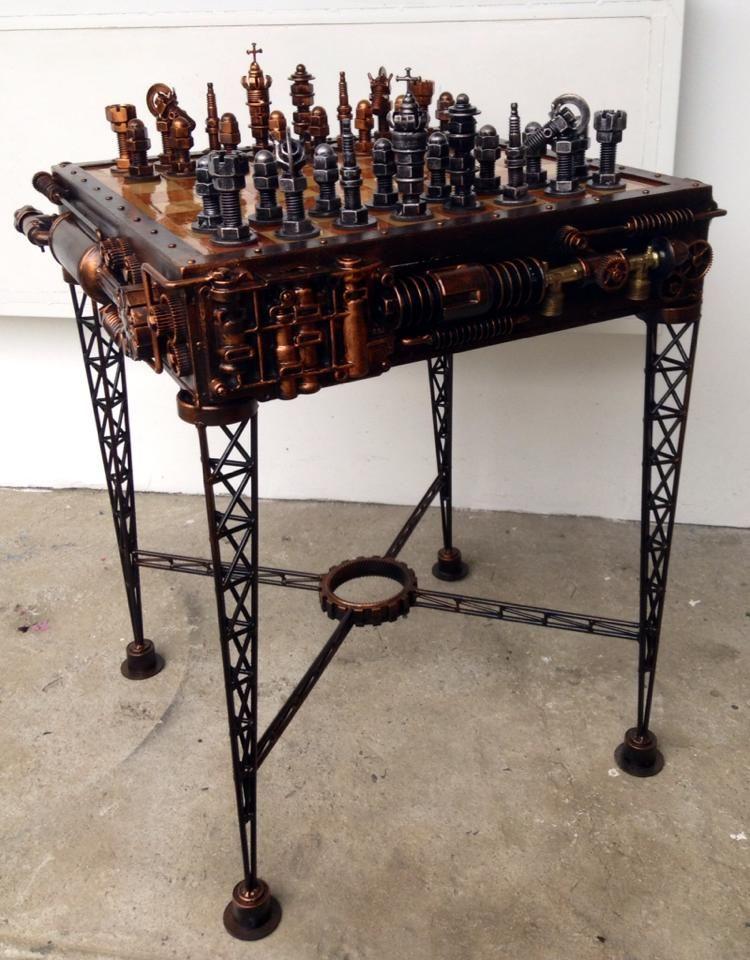 Projects Idea Of Steampunk Dining Table. Steampunk chess set Chesssssssssssssss  Everything
