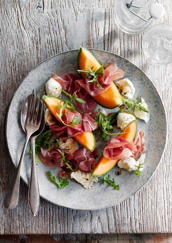 Melon Salad with Prosciutto