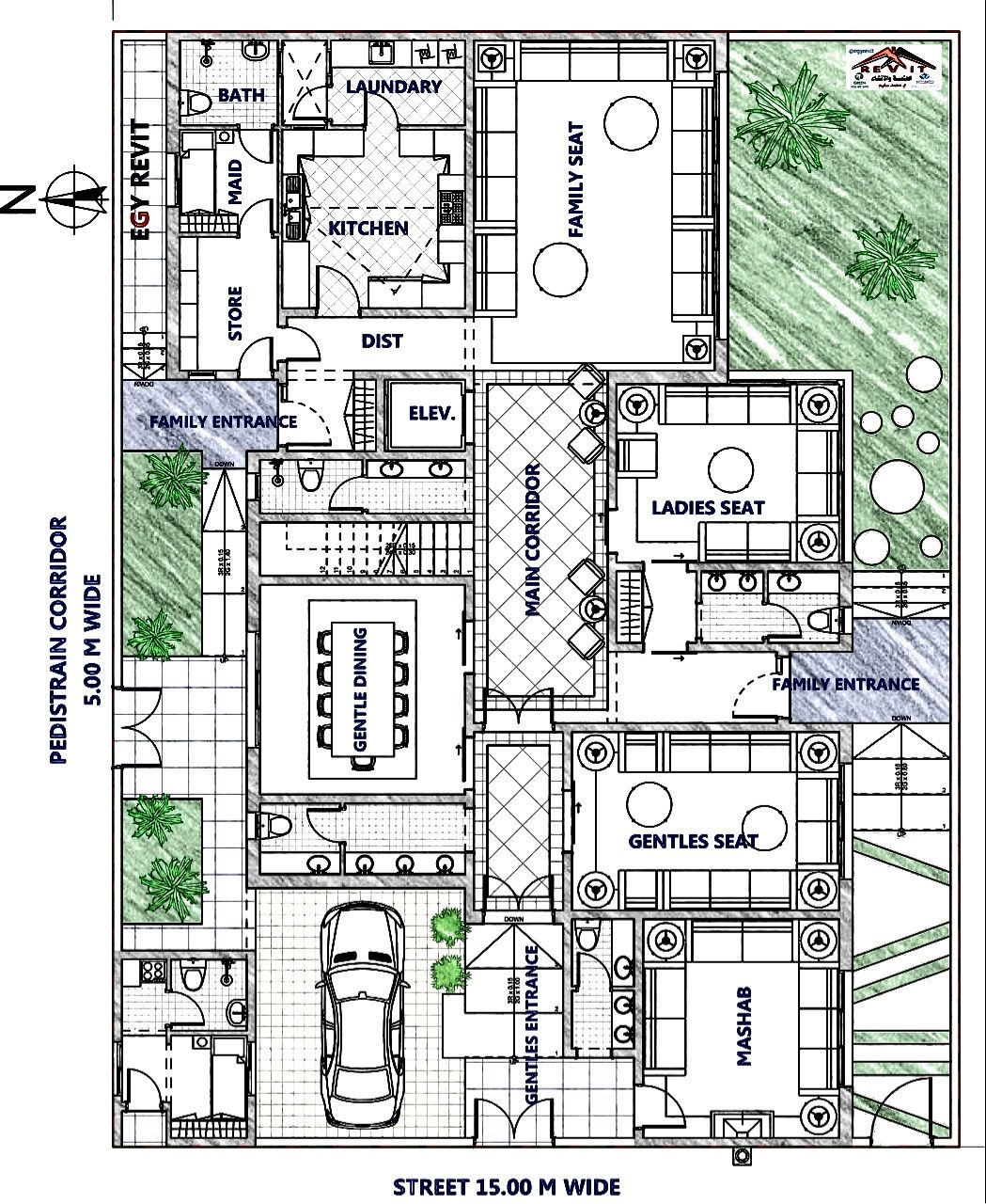 من تصميم ايجي ريفيت فيلا سكنية نيو كلاسيك مسقط أفقي للدور الارضي New House Plans Floor Plans House Plans