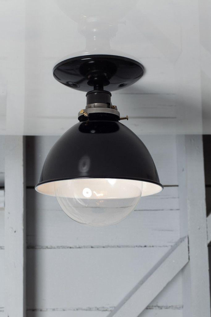 Industrial Metal Shade Lamp - Semi Flush Mount - Industrial Metal Shade Lamp - Semi Flush Mount Industrial Metal