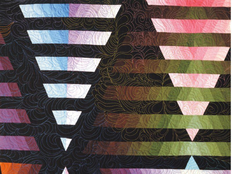 Illusion #6: © 1993, Quilt Art Record by Caryl Bryer Fallert