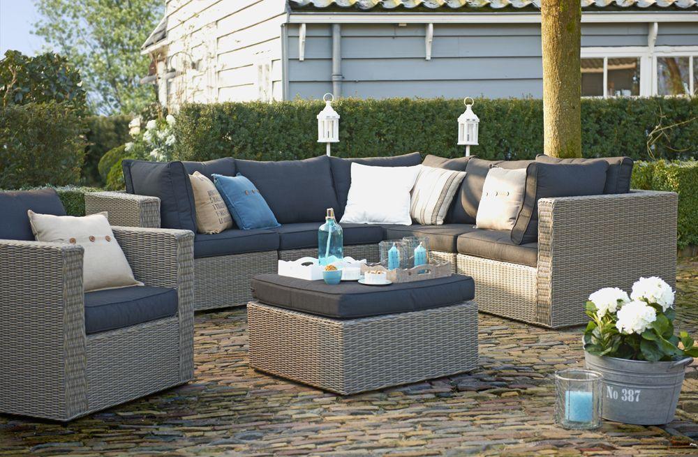Loungeset cordoba verfrissend door de turquoise decoratie en accessoires tuin relaxen - Tuin interieur design ...