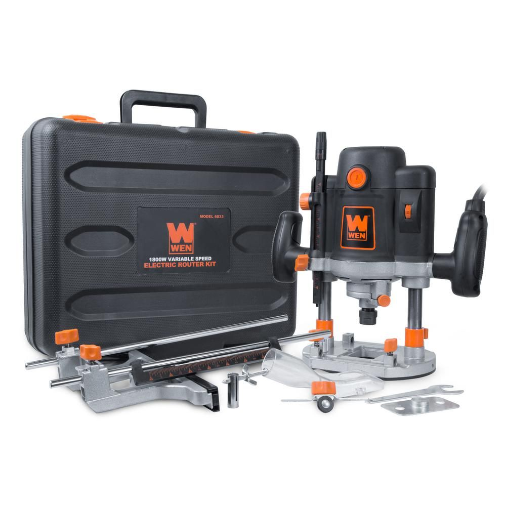 WEN 15 Amp Corded Variable Speed Plunge Woodworking Router