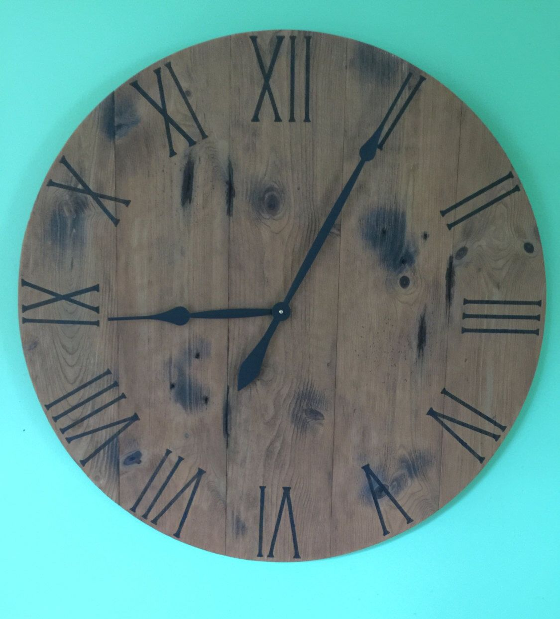 Excited To Share The Latest Addition To My Etsy Shop Barnwood Clock Reclaimed Wood Clock Handmade Clock Large Wood Clocks Wooden Clock Rustic Wall Clocks