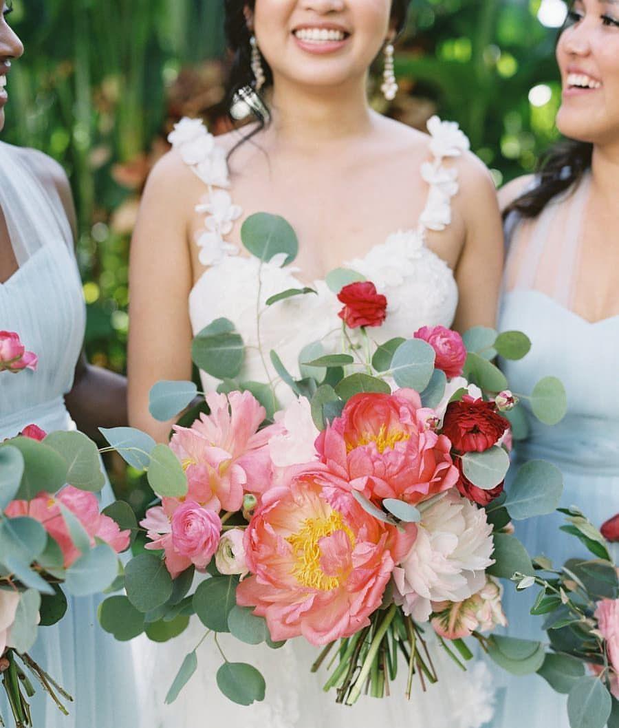 Bride Bridal Bouquet Spring Summer Wedding Bridesmaids