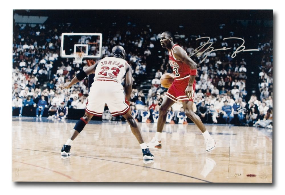 5067b458a99 Michael Jordan Signed Autographed 24X16 Photo Driven from Within Bulls  123  UDA  michaeljordan  autographs