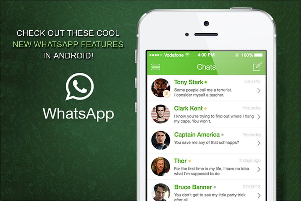 4 new cool features of Whatsapp Whatsapp message