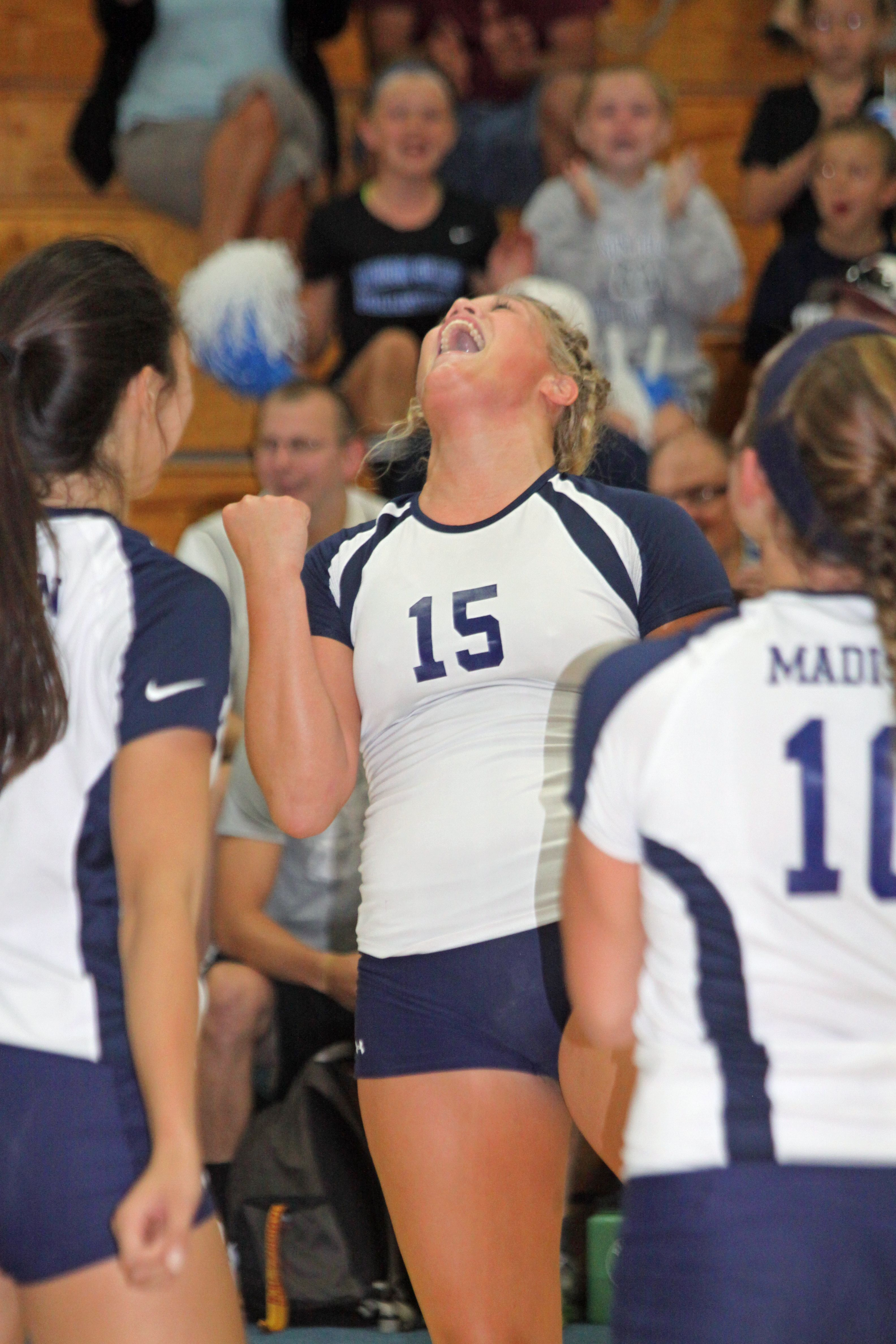 Abbey Loken A Freshman From Houston Mn Was A Solid Contributor For The 2014 Njcaa Diii Champion Wolfpack Women Volleyball Women Champion