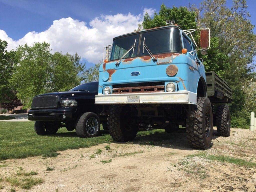 Caterpillar V8 Powered Custom Pick-Up: 1989 Ford C8000 4×4 | COE ...