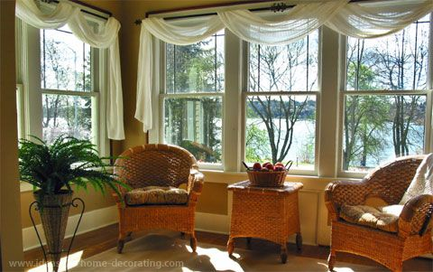I Like The Sheer Curtains In Enclosed Porch Window Scarf For Living Room