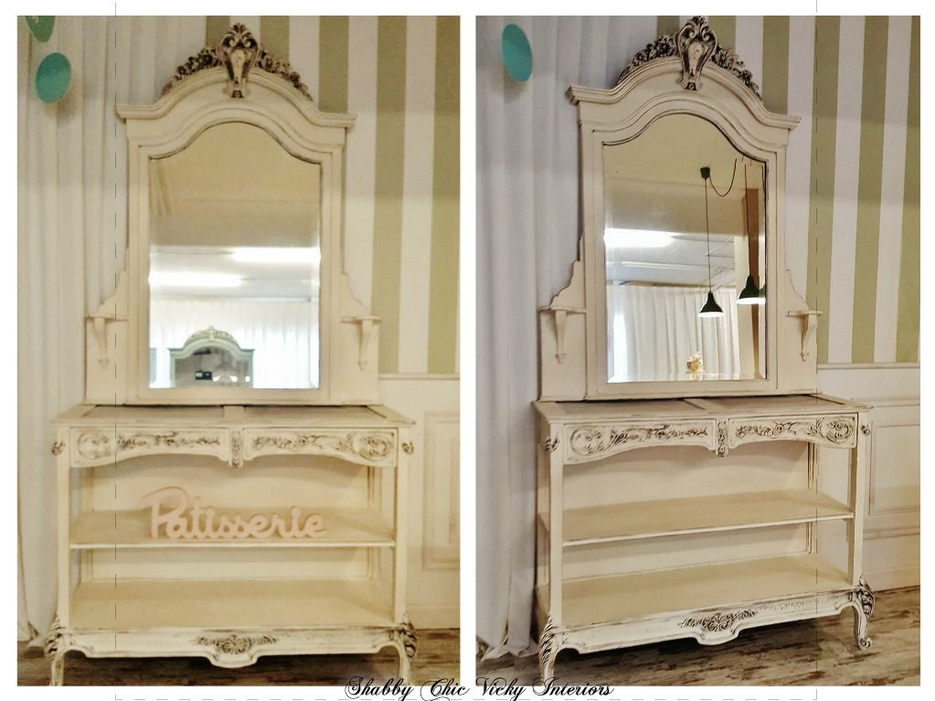 Restyling Etagere con Specchio Shabby Chic Vicky Interiors ...