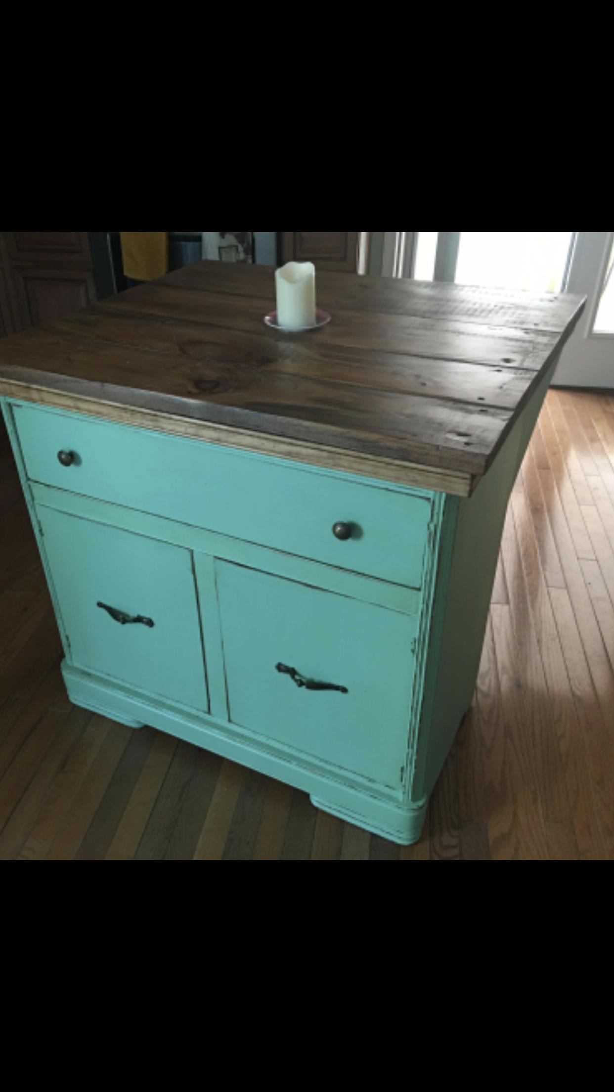 Repurposed dresser to kitchen island scrappy shique repurposed