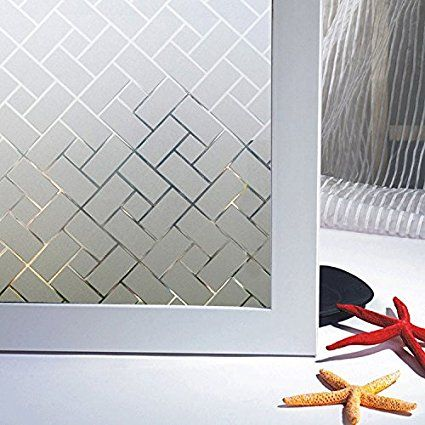 Amazoncom Coavas NonAdhesive Static Frosted Window Film Stained - Stained glass window stickers amazon